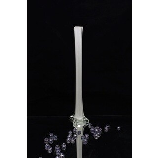 28-inch White Tower Vase