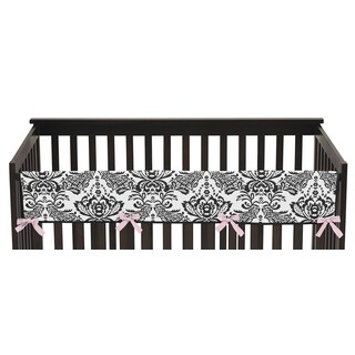 Sweet Jojo Designs Long Crib Rail Guard Cover for Sophia Collection
