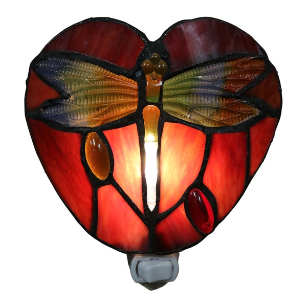 Plug In Tiffany Wall Sconces : Filipa 1-light Red Dragonfly 6-inch Plug-in Wall Sconce with Bulb - Free Shipping On Orders Over ...