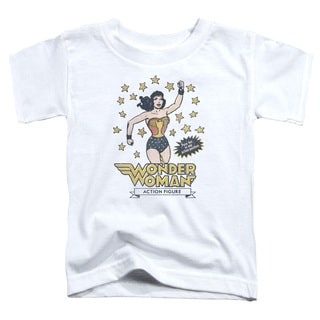 DC/Action Figure Short Sleeve Toddler Tee in White