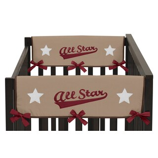 Sweet Jojo Designs All Star Sports Collection Side Crib Rail Guard Covers (Set of 2)