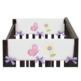 Sweet Jojo Designs Pink and Purple Butterfly Collection Side Crib Rail Guard Covers (Set of 2)