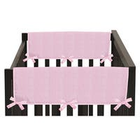 Sweet Jojo Designs Pink Chenille Collection Side Crib Rail Guard Covers (Set of 2)