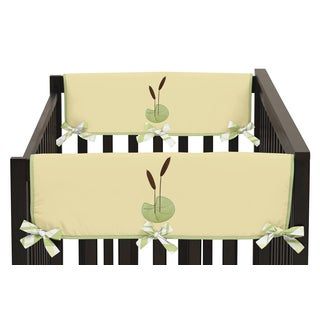 Sweet Jojo Designs Side Crib Rail Guard Covers for Leap Frog Collection (Set of 2)