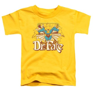 DC/Dr Fate Stars Short Sleeve Toddler Tee in Yellow