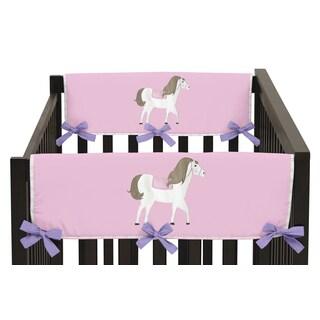 Sweet Jojo Designs Pretty Pony Collection Multicolored Cotton/Microfiber Crib Rail Guard Covers