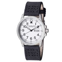 Stuhrling Original Men's Quartz Black Canvas Strap Watch