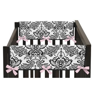 Sweet Jojo Designs Side Crib Rail Guard Covers for Sophia Collection (Set of 2 )