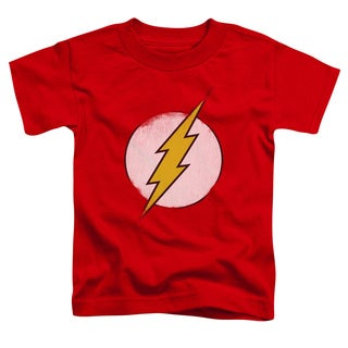 DCO/Rough Flash Logo Short Sleeve Toddler Tee in Red