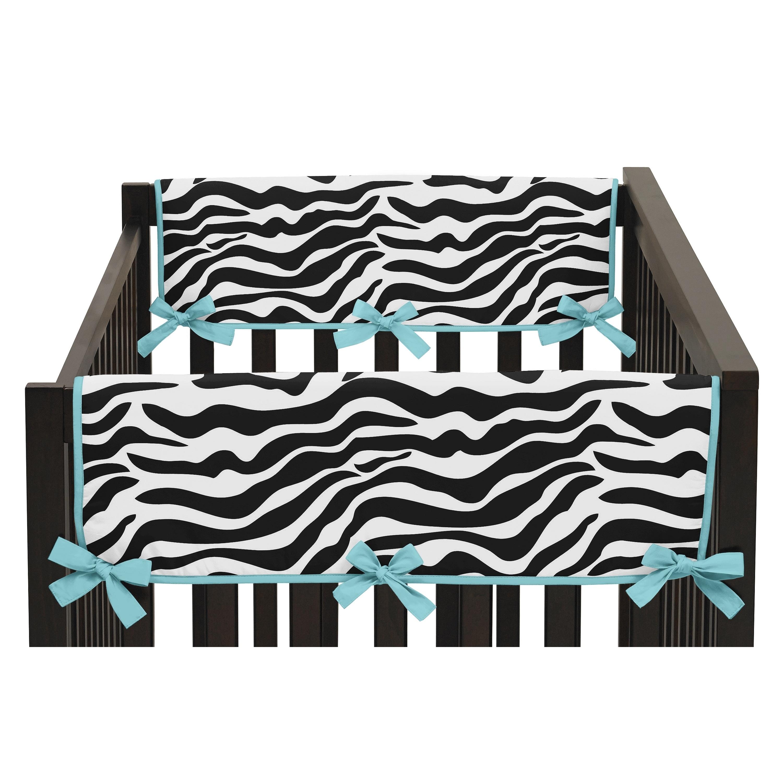 JoJo Designs Turquoise Funky Zebra Collection Side Crib-r...