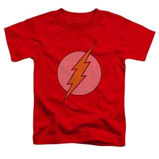 DC/Flash Little Logos Short Sleeve Toddler Tee in Red