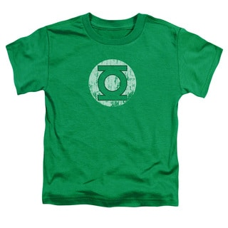 DC/Distressed Lantern Logo Short Sleeve Toddler Tee in Kelly Green