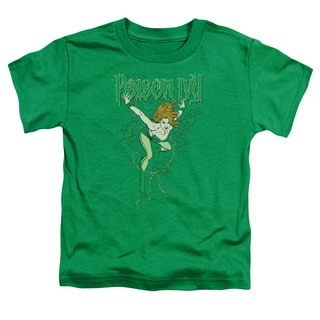 DC/Poison Ivy Short Sleeve Toddler Tee in Kelly Green