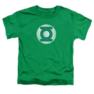 DC/Gl Logo Distressed Short Sleeve Toddler Tee in Kelly Green