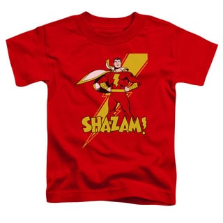 DC/Shazam! Short Sleeve Toddler Tee in Red