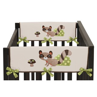Sweet Jojo Designs Forest Friends Collection Side Crib Rail Guard Covers (Set of 2)