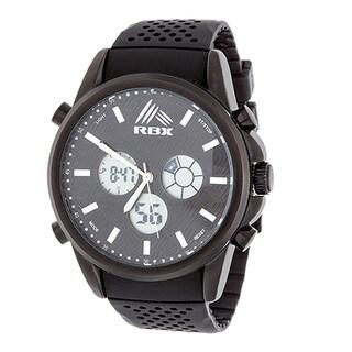 RBX Men's Sport Analog-Digital Black Strap Watch