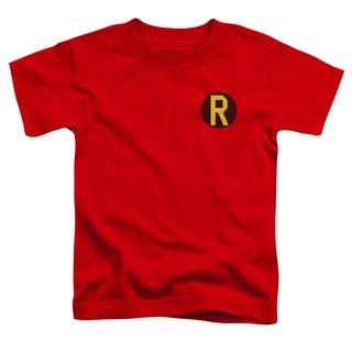 DC/Robin Logo Short Sleeve Toddler Tee in Red