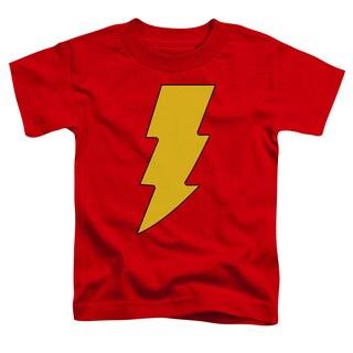 DC/Shazam Logo Short Sleeve Toddler Tee in Red