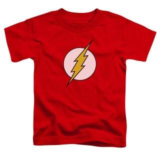 DC/Flash Logo Short Sleeve Toddler Tee in Red