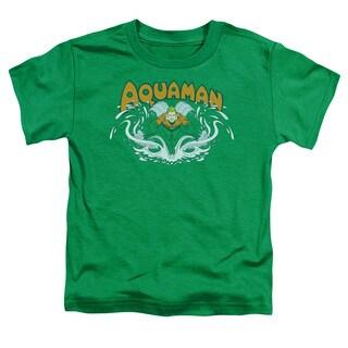 DC/Aquaman Splash Short Sleeve Toddler Tee in Kelly Green