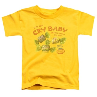 Cry Babies/Vintage Ad Short Sleeve Toddler Tee in Yellow