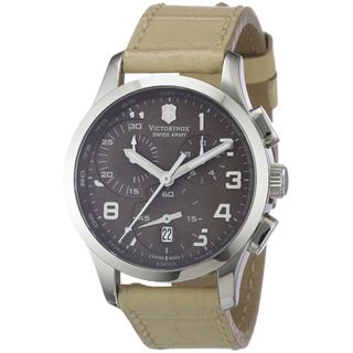 Victorinox Swiss Army Men's 241320 'Alliance' Chronograph Beige Leather Watch