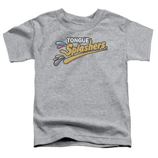 Dubble Bubble/Tongue Splashers Logo Short Sleeve Toddler Tee in Heather