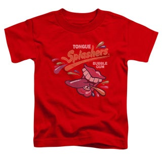 Dubble Bubble/Distress Logo Short Sleeve Toddler Tee in Red