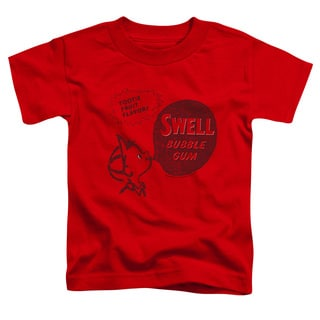 Dubble Bubble/Swell Gum Short Sleeve Toddler Tee in Red