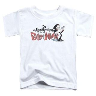 Billy & Mandy/Logo Short Sleeve Toddler Tee in White