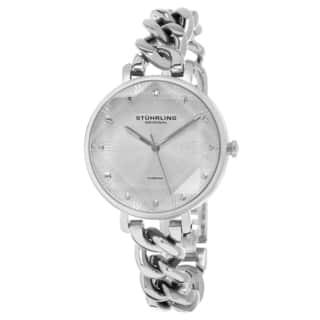 Stuhrling Original Women's Quartz Diamond Vogue Stainless Steel Link Bracelet Watch|https://ak1.ostkcdn.com/images/products/12403587/P19223622.jpg?impolicy=medium