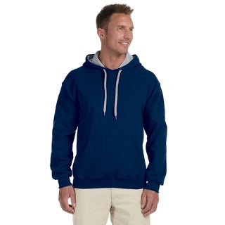 Men's 50/50 Contrast Navy/Sportort Grey Hood (XL)