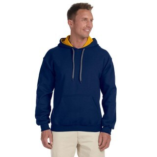 Men's 50/50 Contrast Navy/Gold Hood (XL)