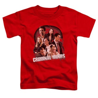 Criminal Minds/Brain Trust Short Sleeve Toddler Tee in Red