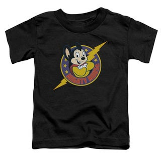 Mighty Mouse/Mighty Hero Short Sleeve Toddler Tee in Black