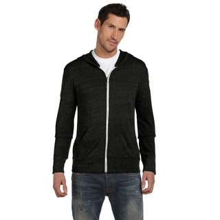 Eco Men's Long-Sleeve Zip Eco Black Hoodie(L)