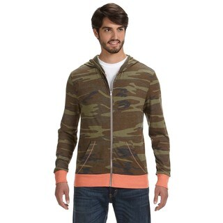 Eco Men's Long-Sleeve Printed Zip Camo Hoodie(L)