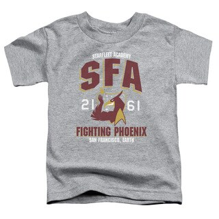 Star Trek/Sfa Fighting Phoenix Short Sleeve Toddler Tee in Heather