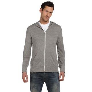 Eco Men's Long-Sleeve Zip Eco Grey Hoodie (XL)