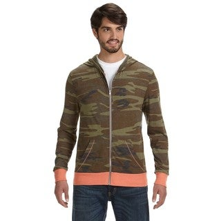 Eco Men's Long-Sleeve Printed Zip Camo Hoodie (XL)