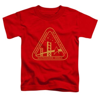 Star Trek/Gold Academy Short Sleeve Toddler Tee in Red