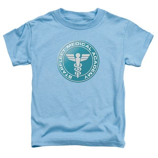 Star Trek/Medical Short Sleeve Toddler Tee in Carolina Blue