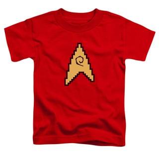 Star Trek/8 Bit Engineering Short Sleeve Toddler Tee in Red