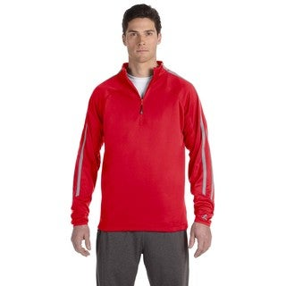 Tech Men's Big and Tall Fleece Cadet True Red/Steel Quarter-Zip