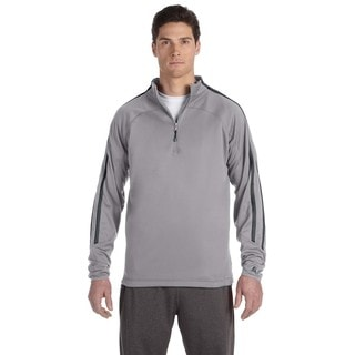 Tech Men's Big and Tall Fleece Cadet Steel/Stealth Quarter-Zip