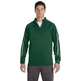 Tech Men's Fleece Cadet Dark Green/Steel Quarter-Zip