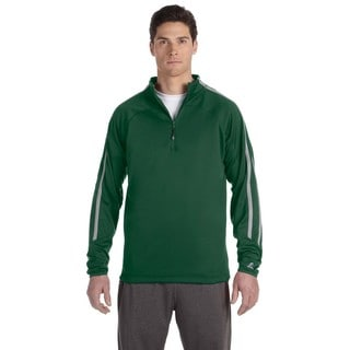 Tech Men's Big and Tall Fleece Cadet Dark Green/Steel Quarter-Zip