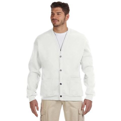 50/50 Men's White Nublend Cardigan