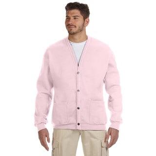 50/50 Men's Classic Pink Nublend Cardigan